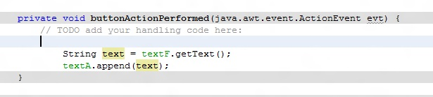 Use java Text Fields