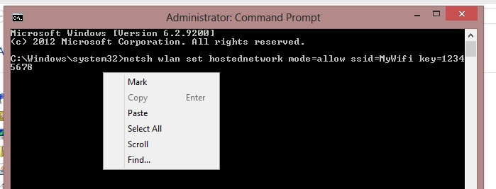 wifi hotspot command line
