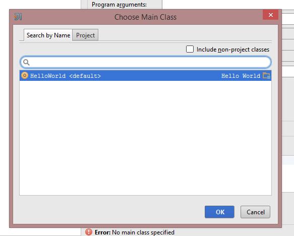 scala select main class