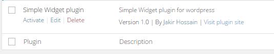 simple widget