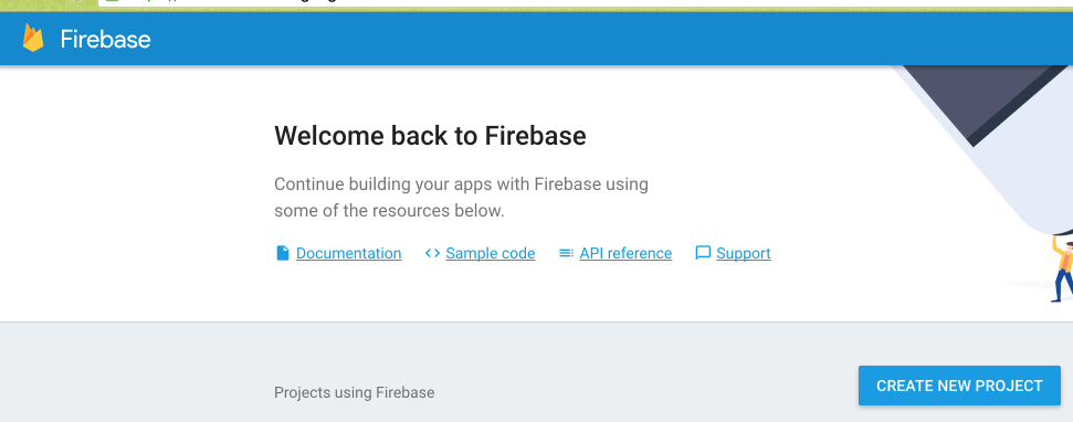 create project on Firebase