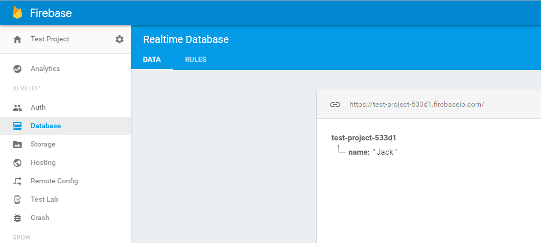 realtime database