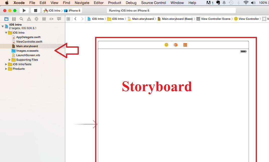 ios Storyboard swift